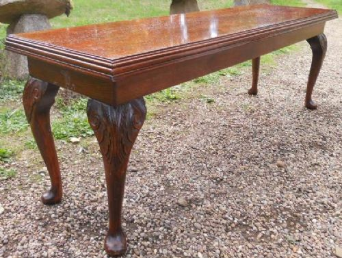 Long Narrow Mahogany Coffee Table
